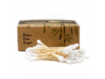 Přírodní bambusové vatové tyčinky - 200 ks