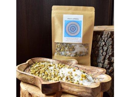 Aromaterapeutická himalájská sůl PROTI STRESU - heřmánek, polní máta, santalové dřevo 300g