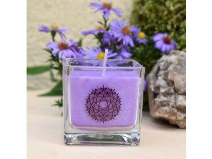 Čakrová aromaterapeutická svíčka PRO 7. ČAKRU