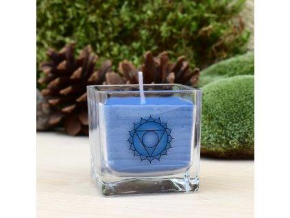 Čakrová aromaterapeutická svíčka PRO 5. ČAKRU