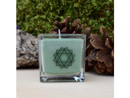 Čakrová aromaterapeutická svíčka PRO 4. ČAKRU