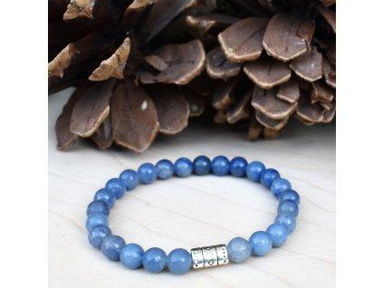Dětský náramek z minerálů SNADNÉ UČENÍ - modrý avanturín, chirurgická ocel