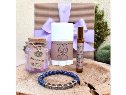Dárkový balíček pro muže INSPIRACE A KREATIVITA (M) - náramek, svíčka, tuhý deodorant, parfém