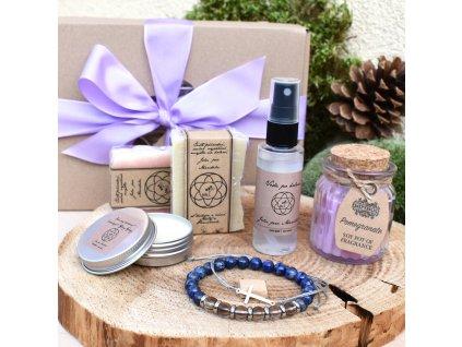 Dárkový balíček pro muže INSPIRACE A KREATIVITA (L) - náramek, shamballa, sada mýdel pro muže, voda po holení, krémový deodorant, svíčka