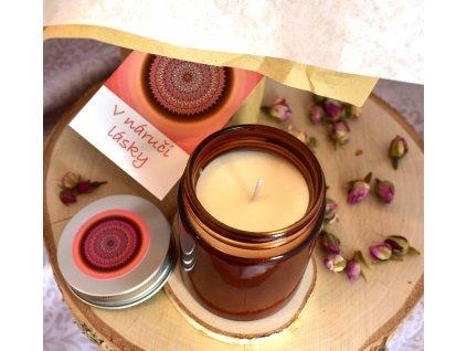 Aromaterapeutická svíčka V NÁRUČI LÁSKY