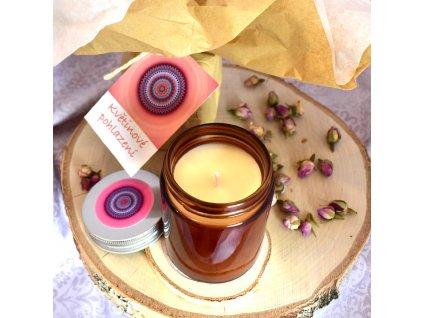 Aromaterapeutická sójová svíčka KVĚTINOVÉ POHLAZENÍ