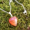 Přívěšek srdce KARNEOL - menší