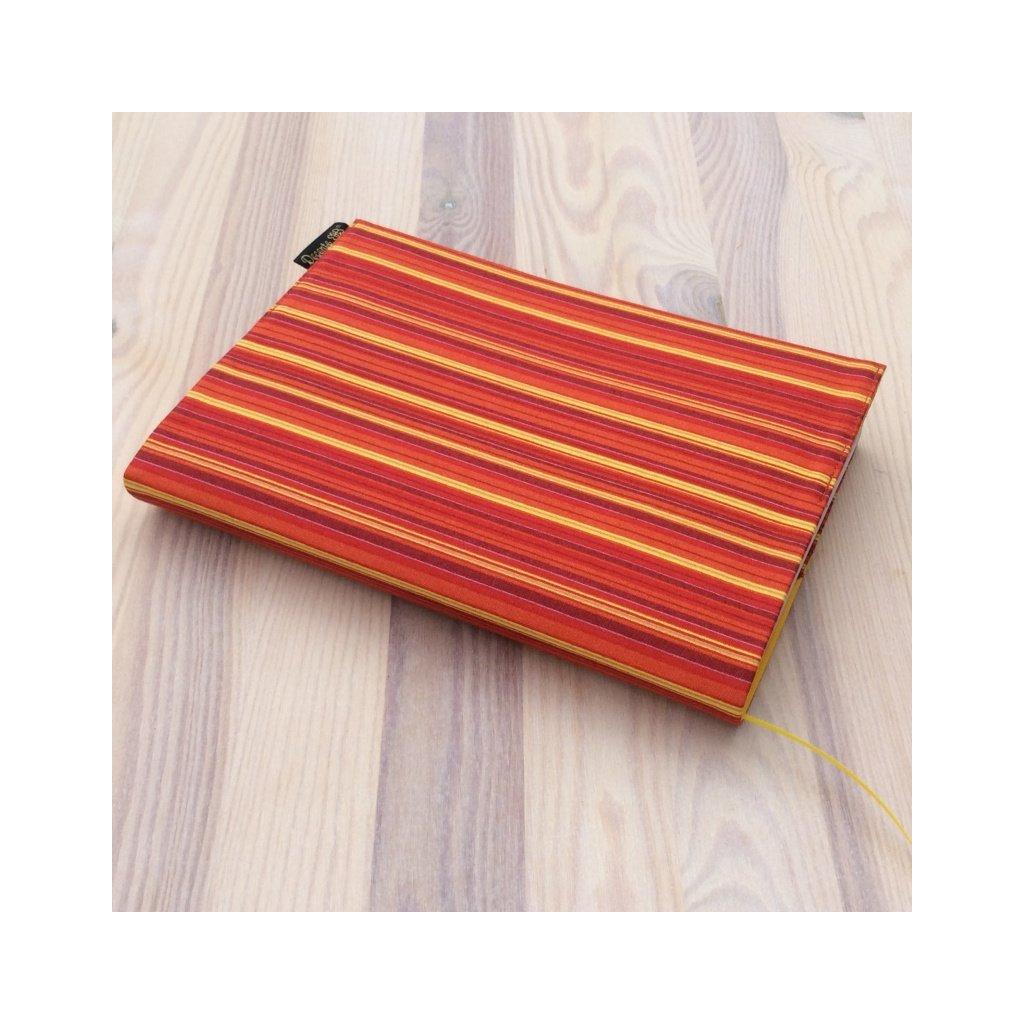 Obal na knihu Proužky oranžovo-žluté, M1370