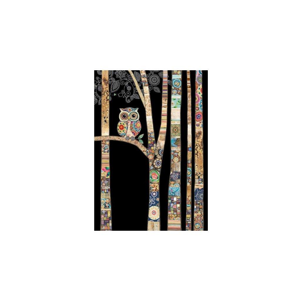Přání do obálky Bug Art - Owl Birch