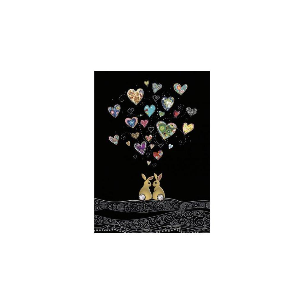 Přání do obálky Bug Art - Love Bunnies