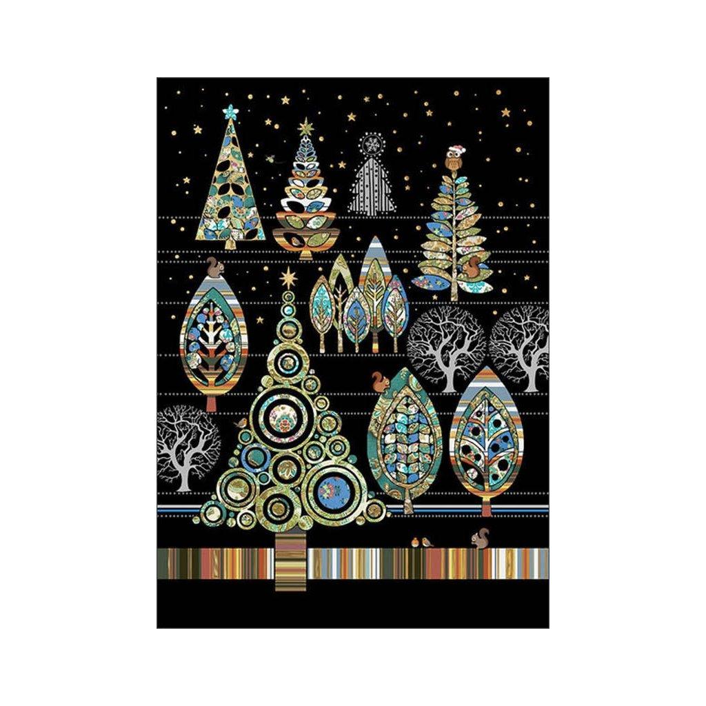 Přání do obálky Bug Art - Christmas Forest