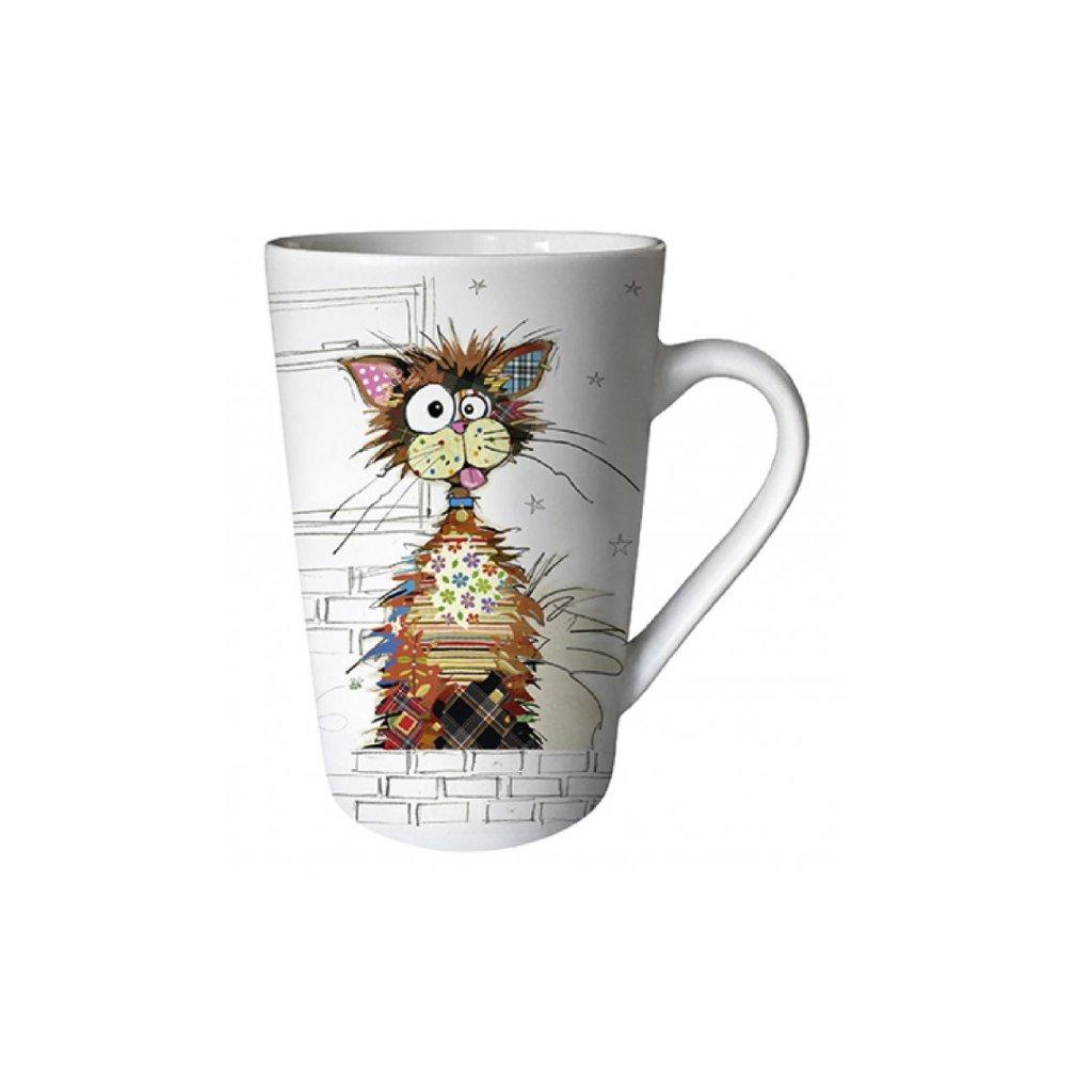 Porcelánový hrnek Kočka veselá 435ml, BUG ART