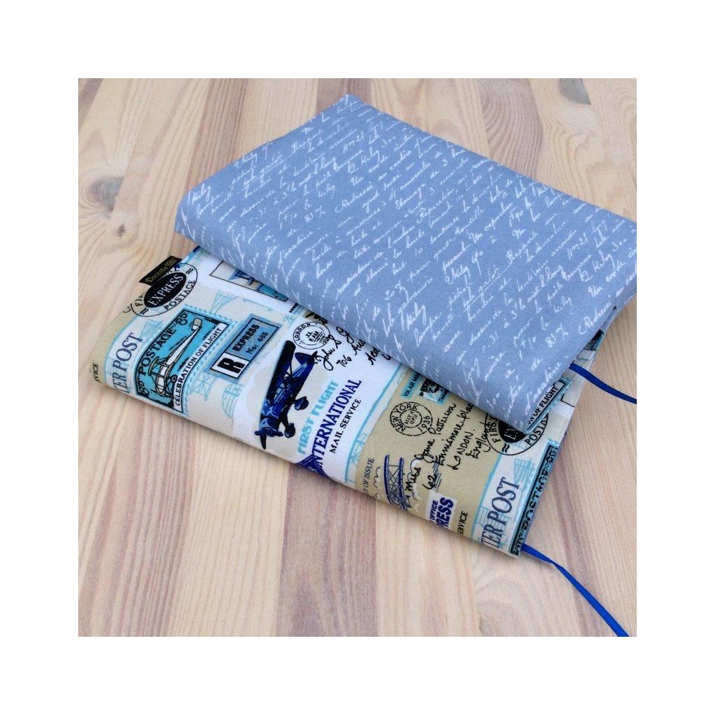 Obal na knihu Letadla modrá/Písmo na světle modré, OB S1205