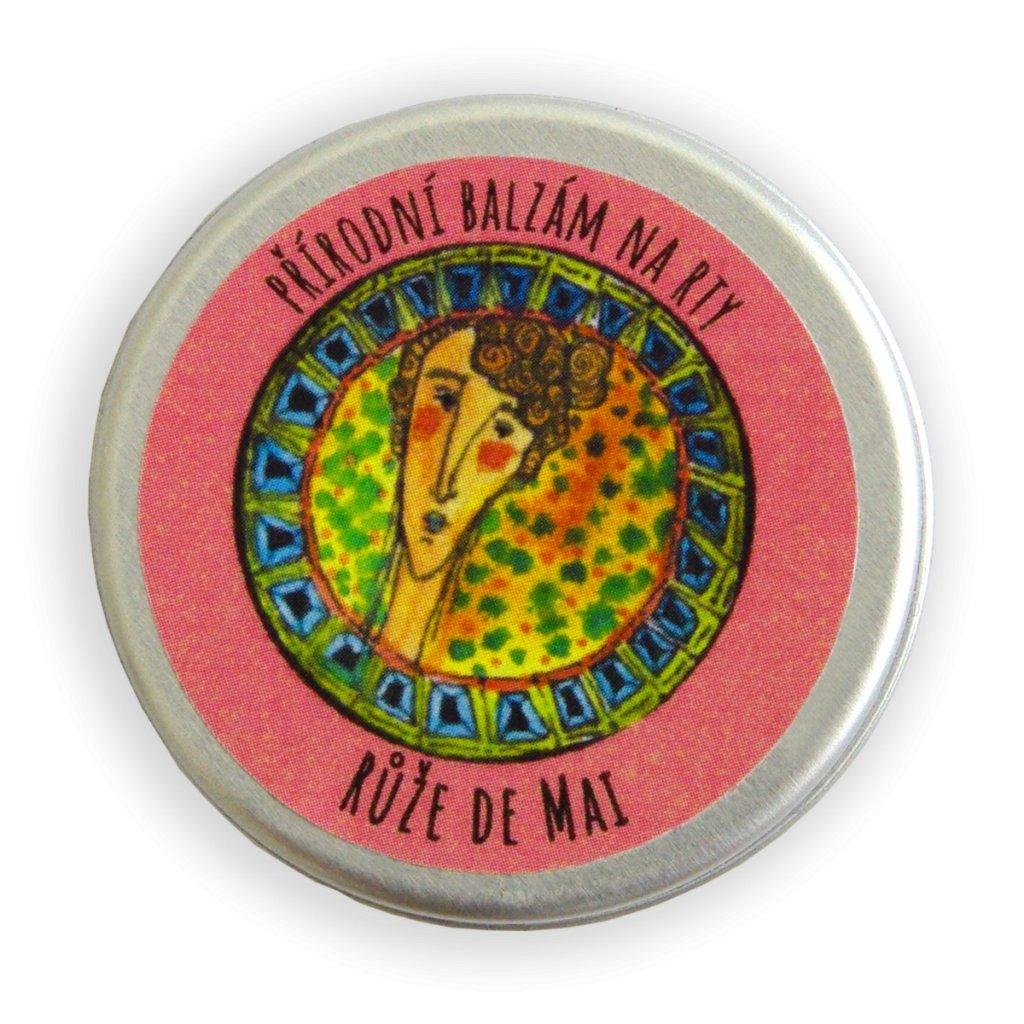 Přírodní balzám na rty Růže de Mai
