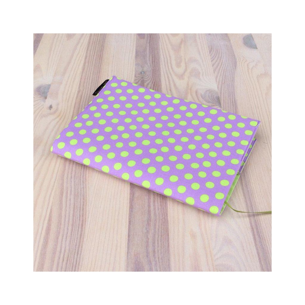 Obal na knihu Puntíky kiwi na fialkové, S1113