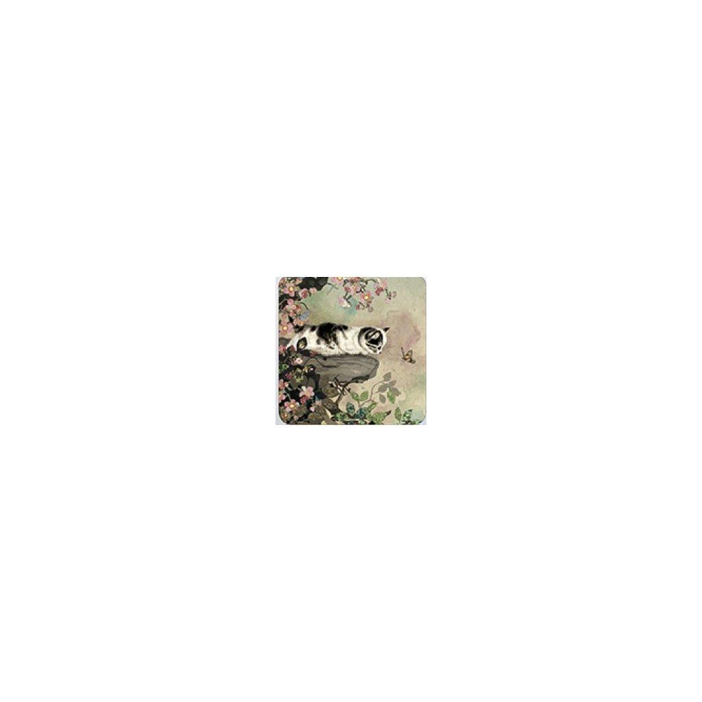 podtácek Kočka na kameni, Decente