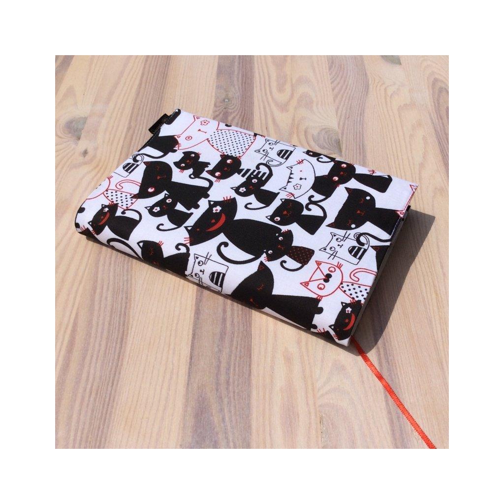 Obal na knihu kočky černobílé, UNI-M1427