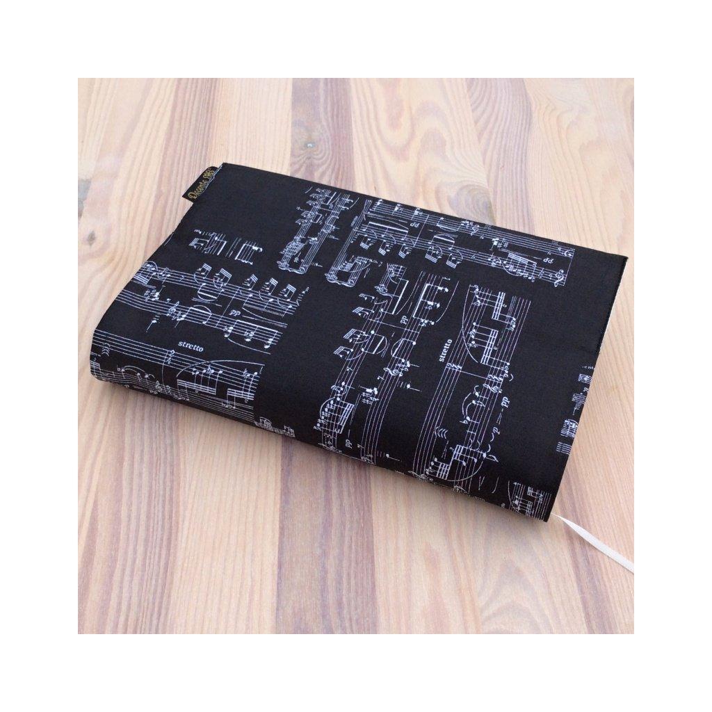 Obal na knihu Noty na černé, UNI-XS1465