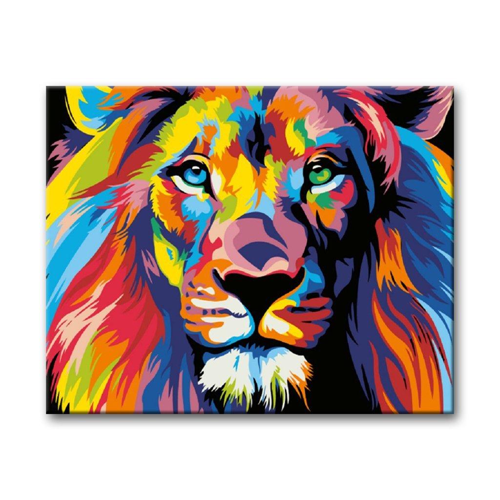 Barevný lev, Malování podle čísel (1)