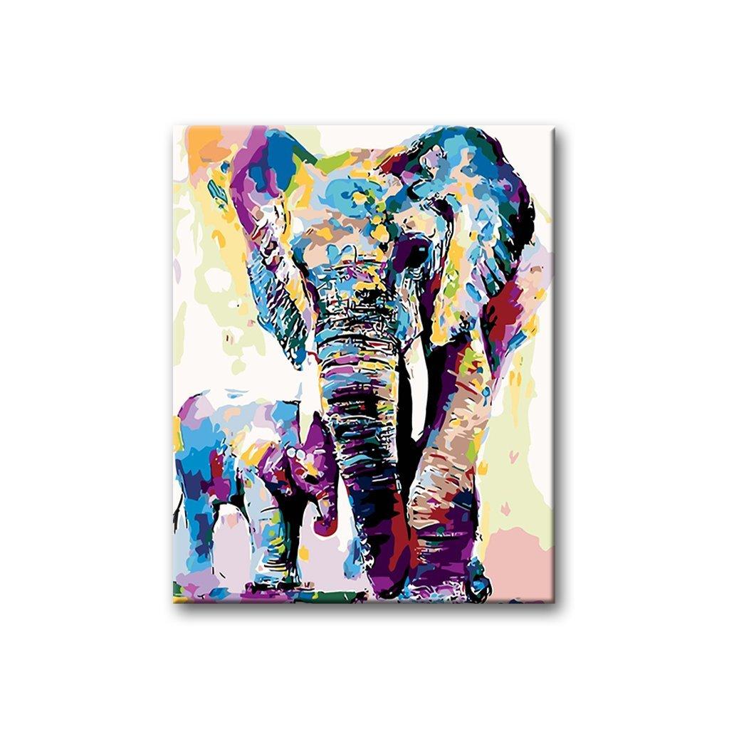 Malovaní sloni, Malování podle čísel (2)