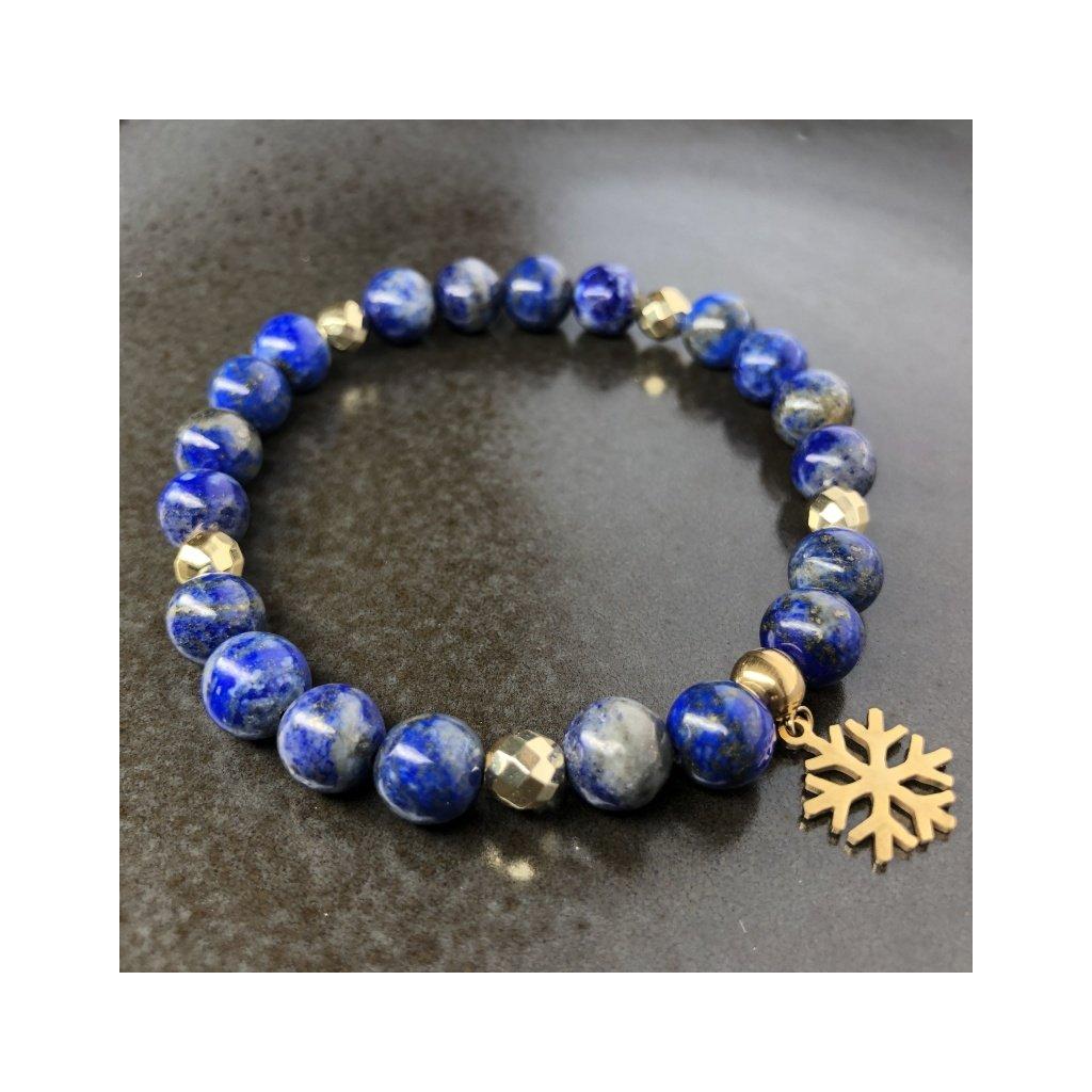 Náramek z minerálů, Lapis Lazuli, Láva (Mandarino.cz) (2)