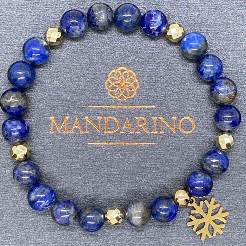 Minerální náramek - Vločka, Lapis lazuli