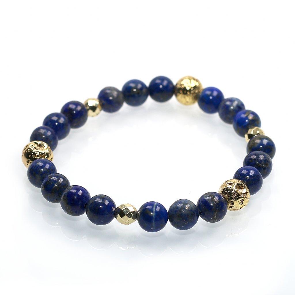 Náramek z minerálů, lapis lazuli, hematit, mandarino