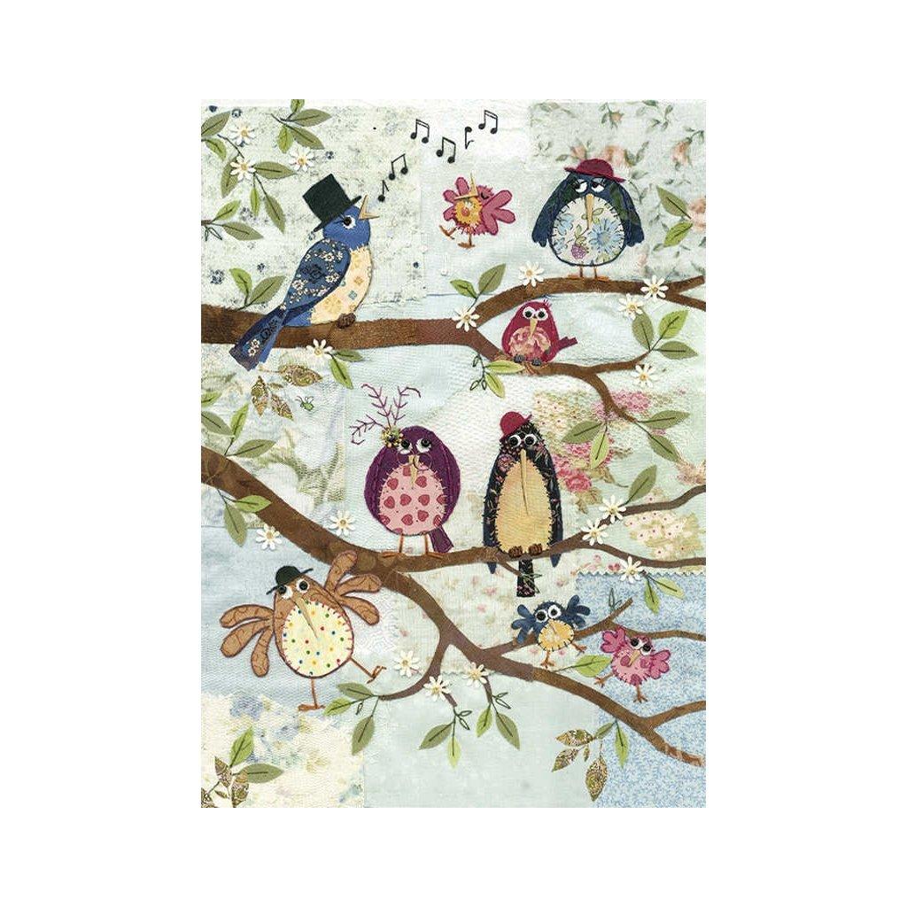 Přání do obálky Bug Art - Nine Birds