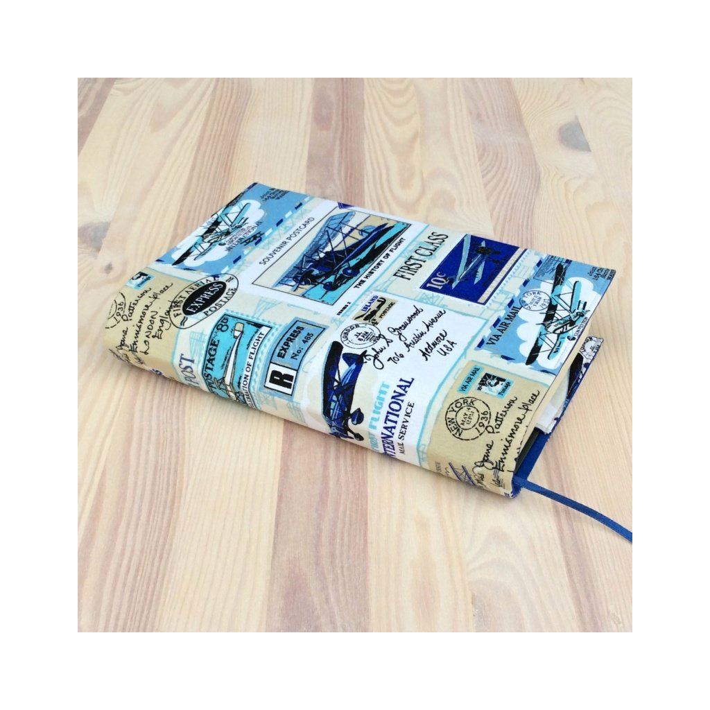 1205, Obal na knihu Letadla modrá , Decente