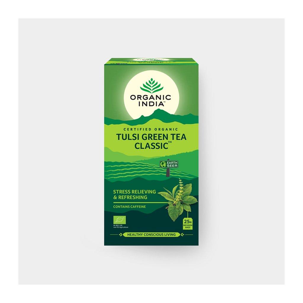 Tulsi se zeleným čajem BIO, 25 sáčky