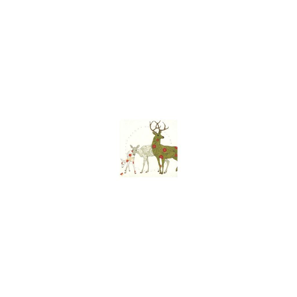 Přání do obálky Clear Creations - Deer family