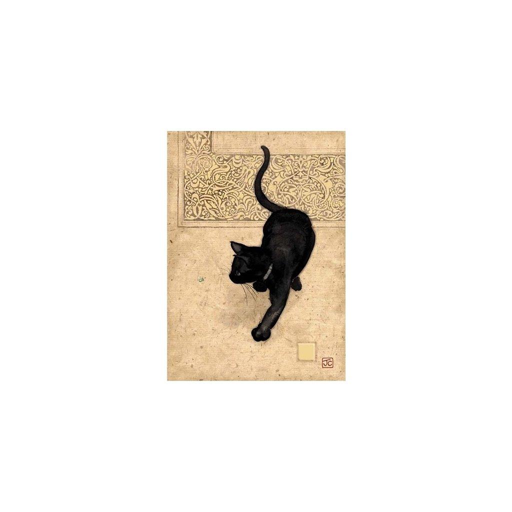 Přání do obálky Bug Art - Black Cat