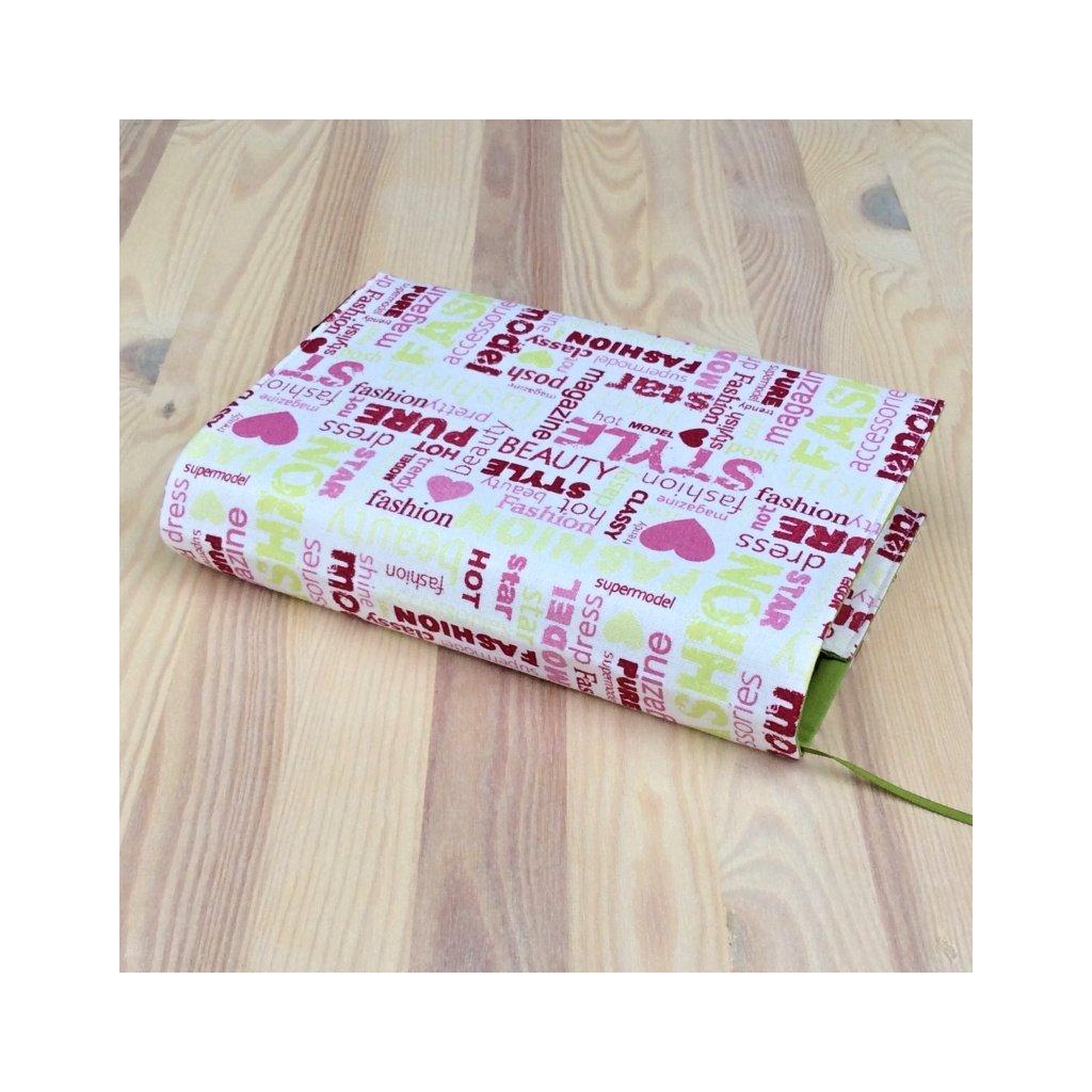 Obal na knihu Fashion růžovo zelený, L1015