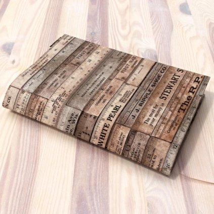 Obal na knihu Pravítka hnědá, M1070