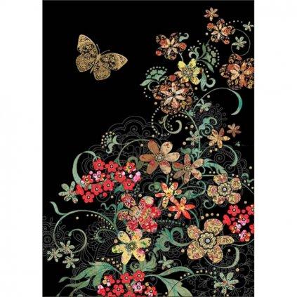 Přání do obálky Bug Art - Red Flowers