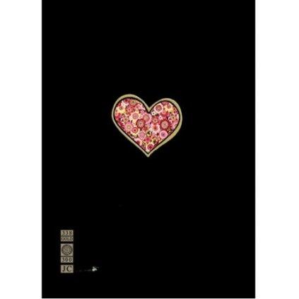 Přání do obálky Bug Art - Red Heart