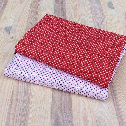 Obal na knihu Bílý puntík na červené/červený puntík na bílé,OB S1243
