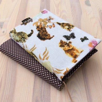 Obal na knihu Kočky a motýlci/Puntík hnědý, OBM1323