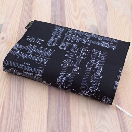 Obal na knihu Noty na černé, UNI-M1465