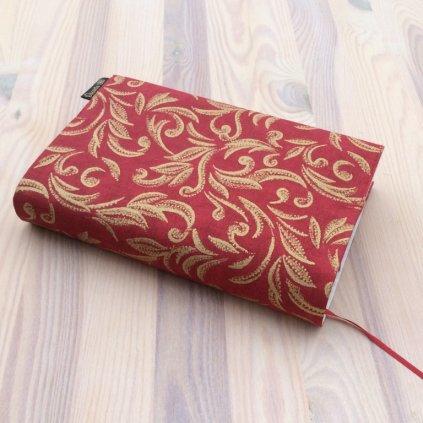 Obal na knihu Zlatý vzor na červené, UNI-S1509