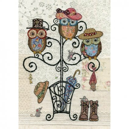 Přání do obálky Bug Art - Owl Hatstand
