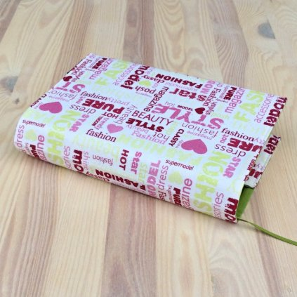 1015, Obal na knihu Fashion růžovo zelený,, Decente (2)