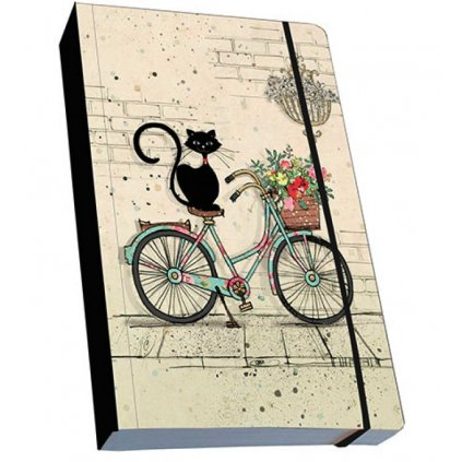 Zápisník Bug Art Kočkyna kole, A6, Decente