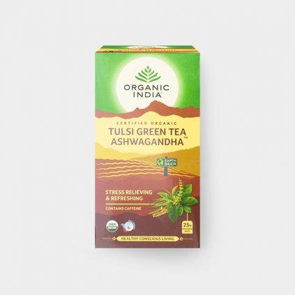 Tulsi se zeleným čajem a ašvagandou BIO, 25 sáčky