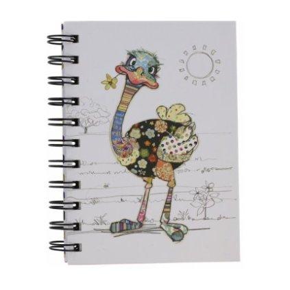 Zápisník Bug Art A6 - Pštros