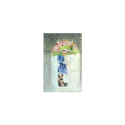 Přání do obálky The DM Collection - Girl with the Frog Umbrella