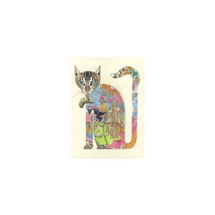 Přání do obálky The DM Collection - Cat Licking its Paw