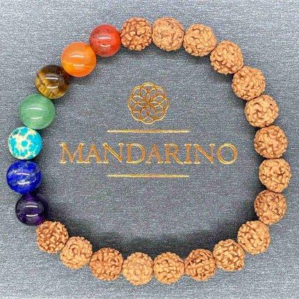 Čakrový náramek s rudrakšou, Mandarino