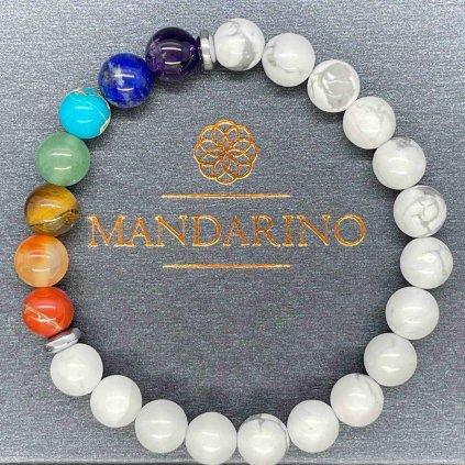 Čakrový náramek, howlit, Mandarino