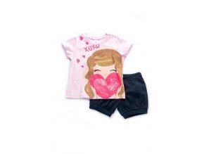"""Dívčí bavlněné pyžamo pro dívky """"XOXO"""""""